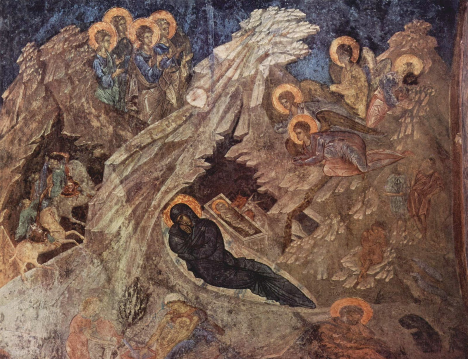 Byzantine fresco from Mistra, Greece, mid-14th century