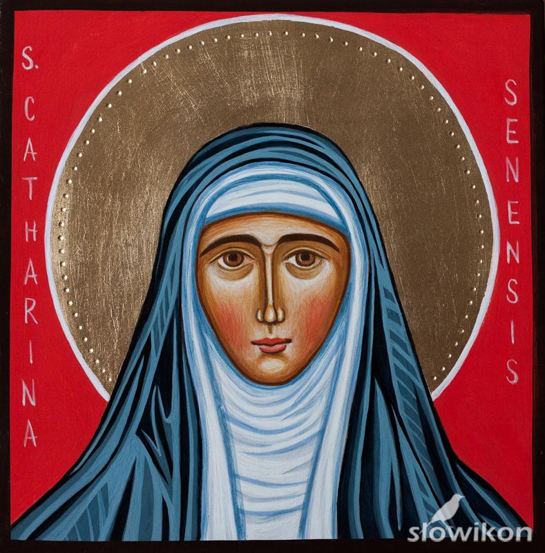 Ikona Święta Katarzyna Sieneńska
